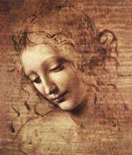 'La scapigliata quadro - Stampa d''arte su tela telaio in legno'