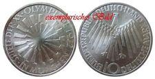 J401b 10 DM Gedenkmünze Olympia Spirale München 1972 F in bankfrisch