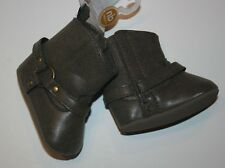 New Carter's Girls Infant Baby Brown Boots Newborn Touch Closure Soft