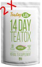 14/28 DAY SKINNY DETOX TEA AM&PM TEATOX FLAT STOMACH METABOLISM BURN FAT 2 PACK