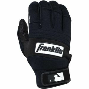Franklin All-Weather Pro Batting Gloves Pair - Black/Black - L