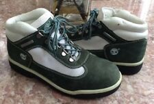 Timberland Kid's Field Green White Suede Vintage Boots Size 6M #41968 8447 EUC