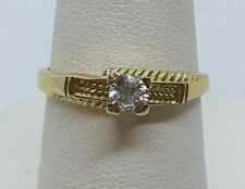 Ring 3.3 Grams Size 7 #51233 14K Yellow Gold Cubic Zirconia Promise Engagement
