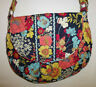 VERA BRADLEY FLORAL SHOULDER BAG PURSE BLUE, PINK, YELLOW FLOWERS FLORAL