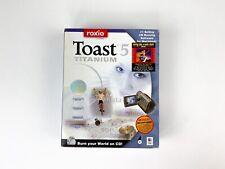 ROXIO Toast 5 Titanium Apple Mac Install Disc CD Software Box Manual UNTESTED