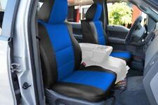 FORD F-150 04-08 S.LEATHER FRONT SEAT COVER NO BUILT IN SEATBELT BLACK/BLUE
