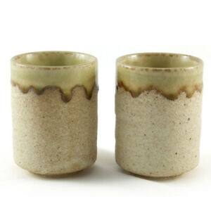 Tea Coffee Cup Pair Gift Mug ceramic beer Japanese Stoneware Bowl Sand Glazed