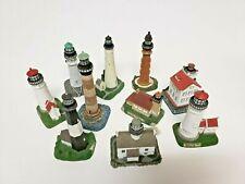 Geo. Z. Lefton Collectible Set of 10 Ceramic Mini - lighthouses