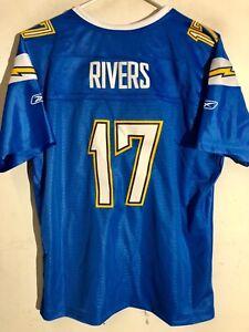 Reebok Women's Premier NFL Jersey San Diego Chargers Rivers Light Blue Alt sz 2X