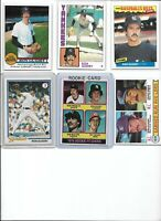 Ron Guidry Yankees Lot of (6) Different w/ 1976 Topps Rookie #599 & 1978 EX