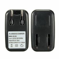 New EU Plug AC 100-250V for LIR2032 2025 Button Coin Cell Battery Travel Charger