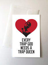 2 Pack - Gucci Mane Trap Queen Valentines Day Love Greeting Cards