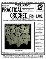 5th Book Weldon/'s 2D #70 c.1890 Victorian Macramé Lace