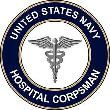 """Navy Hospital Corpsman Hm 5.5"""" Die Cut Sticker 'Officially Licensed'"""