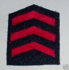 RAAF OVERSEAS SERVICE CHEVRONS - 3 BAR WW2 PERIOD REPRODUCTION