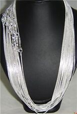 Wholesale Unisex Silver Plated Snake Chain Necklace 18inch Wide 1.2mm 50pcs