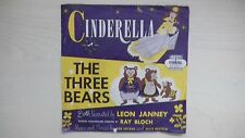 RARE Coral Records CINDERELLA/The Three Bears 45 RPM 1952