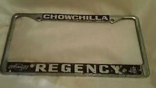 Chowchilla CA Chevrolet Oldsmobile License Plate Frame Metal Tag Holder Embossed