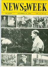 NEWSWEEK  ADOLF HITLER  BABE RUTH    FUEHRER  NOVEMBER 18  1933