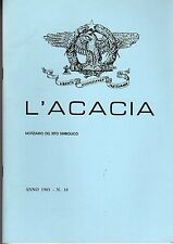 MASSONERIA L'ACACIA ANNO 1985 NUMERO 18