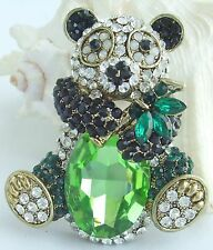 Rhinestone Crystal Pendant Deco Ee05698C1 Lovely Chinese Panda Animal Brooch Pin