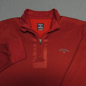 CALLAWAY WEATHER SERIES THERMAL  1/4 ZIP GOLF PULLOVER--XL--EXCEPTIONAL QUALITY!