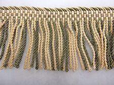 Bullion fringe rope trimming. 10cm Long SOLD PER METRE Baby pink & Green trim