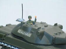 SOLIDO soldat, 1 CHEF DE CHAR en métal peint, militaire pour char AMX 30