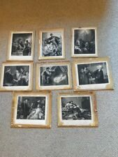 Early German 19thc Collection Of 8 Antique Shakespearean Prints From Etchings