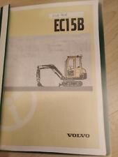 Volvo Minibagger 272 Bedienungsanleitung EC15B XR/XT/XTV Betriebsanleitung 2002!