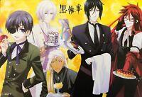 """Kuroshitsuji Black Butler Poster #A01 Ciel Sebastian Alois Claude 11.5""""x17"""""""