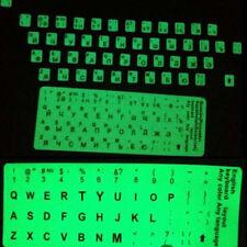 Fluorescent Glow in Dark Large Black Letter English or Russian Keyboard Sticker