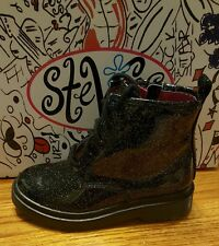 STEVIES BY STEVE MADDEN - JPLAYY - GIRLS' ANKLE BOOTS - SIZE 5 M - BLACK - NEW