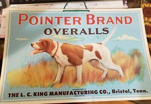 Vintage Porter Brand Overalls Advertising Sign