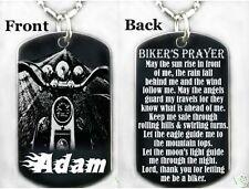 A BIKER'S PRAYER - Dog tag Necklace/Key chain + FREE ENG.