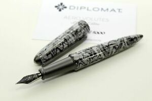 Diplomat Aero Volute Limited Edition 1000 Füller Fountain Pen Marmoriert Feder M