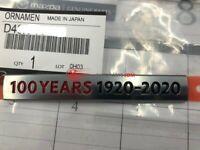 Genuine Mazda CX-3 CX-5 CX-8 100th Anniversary Rear Ornament NEW