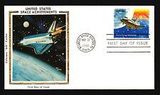 Us Space Achievements 1981 Colorano Silk Fdc Series of 8 - M466