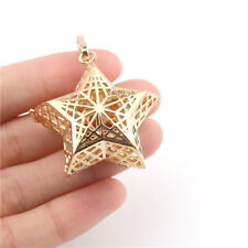B283 Gold Star Pentagram Fit 16mm Floating Diffuser Beads Cage Locket
