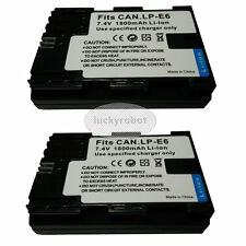 2x Fully Decoded LP-E6 Battery Pack for Canon EOS 5D MARK II III 6D 7D 70D 60D
