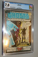 GHOSTS # 4 CGC 7.0 FINE / VERY FINE  off white PAGES
