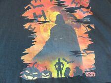 DARTH VADER  STAR WARS Black Halloween T-SHIRT Men's  2XL C3PO, R2D2, Yoda
