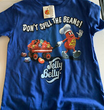 Baby Jelly Belly Don't Spill The Beans Blue Tee Shirt  Size 24 Months