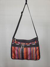 LESPORTSAC Deluxe Everyday Brown Rainbow Polka Dot Print Shoulder Crossbody Bag