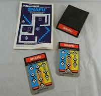 Intellivision  SNAFU Video game cartridge manual two overlays Mattel Electronics