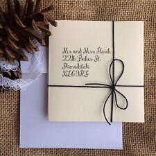 Wedding invitation handmade personalised ivory DIY lace jute rustic Elegant