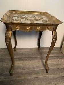 Vintage Gold Gilt Italian Florentine Table