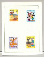 Lesotho #554-558 Disney Christmas 4v & 1v S/S Imperf Chromalin Proofs in Folder