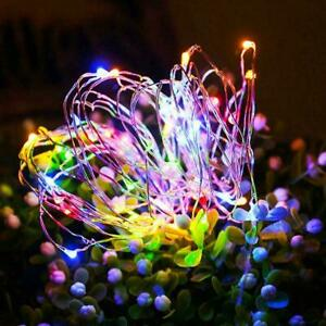 100 LED Solar String Lights Waterproof Copper Wire Outdoor Fairy Party