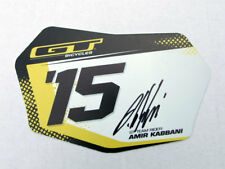 """Amir Kabbani signed Collectable GT Bicycle Number Plate, Size 4.5"""" x 8"""""""